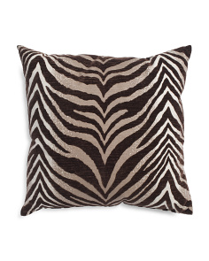 Made In USA 22x22 Flocked Velvet Pillow