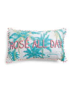 14x24 Indoor Outdoor Rose All Day Pillow