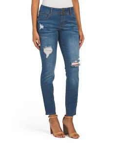 Washed Look Destructed Denim Jeans
