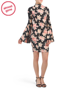 Juniors Made In USA Printed Floral Dress