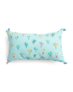 14x24 Indoor Outdoor Cactus Party Pillow