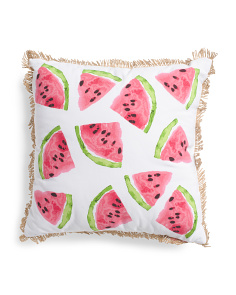 20x20 Indoor Outdoor Watermelon Toss Pillow