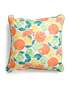 24x24 Indoor Outdoor Citrus Toss Pillow