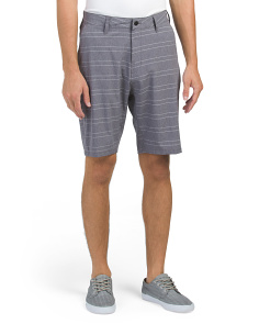 Multi-functional Stretch Chambray Shorts