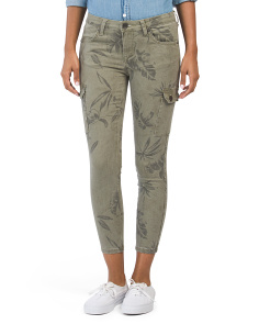 Petite Cargo Floral Cropped Pants