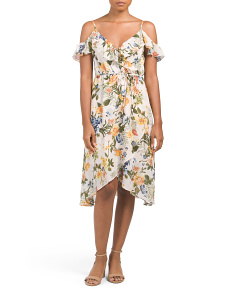 Juniors Printed Wrap Dress