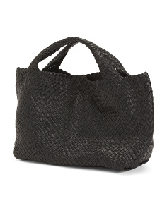 Made In Italy Hand Woven Leather Tote
