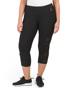 Plus Active Capris With Power Mesh