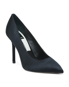 Satin Pointy Toe Dress Pumps