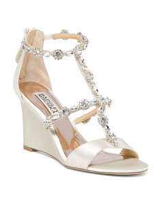 Crystal Embellished Evening Wedges