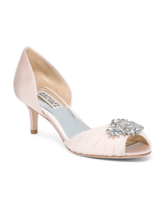 Peep Toe Kitten Heel D'orsay Pumps