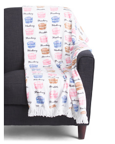 Macaroon Flavors Plush Throw