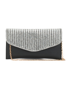 Rhinestone Flap Evening Bag