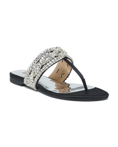 Crystal Embellished Evening Sandals