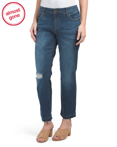 Ankle Straight Leg Released Hem Jeans