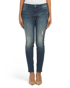 Mia Toothpick Five Pocket Skinny Jeans