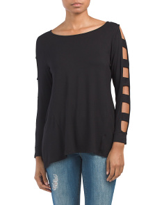 Made In USA Caged Sleeve Top