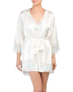 Charmeuse Short Bridal Robe