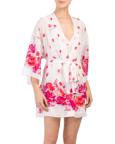 Printed Sheer Chiffon Robe