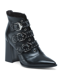 Made In Italy Studded Leather Boots
