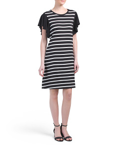 Striped Crew Neck Dress