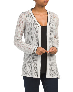 Long Sleeve Sheer Lace Cardigan