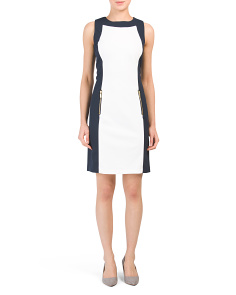 Crepe Scuba Color Block Dress