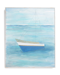 20x24 Sailboats Mooring Wall Art