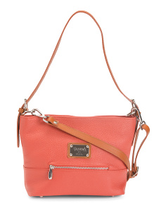 Made In Italy Leather Hobo Shoulder Bag