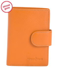 Fold Snap Leather Wallet
