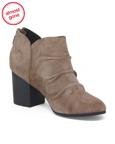 Suede Block Heel Shooties