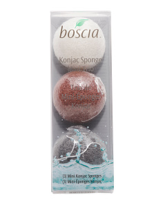 Mini Konjac Cleansing Sponge Trio