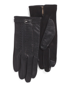 Leather Gloves With Touch Fingers