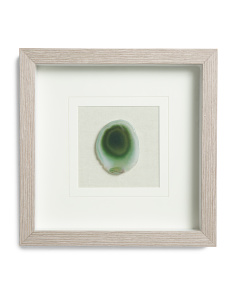 Agate Wood Framed Wall Art
