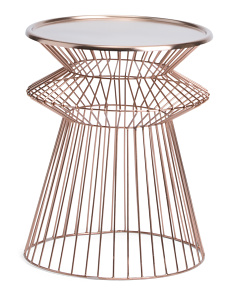 Made In India Metal Accent Table