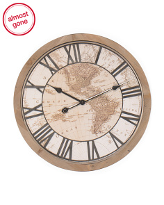 24in Wooden Wall Clock