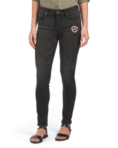 Halle Super Skinny Patch Jeans