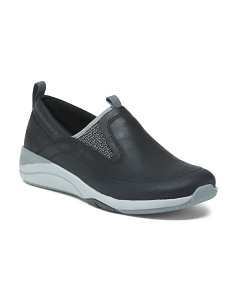 Leather Slip-on Comfort Sneakers