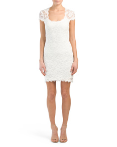 Juniors Made In USA Lace Cocktail Dress