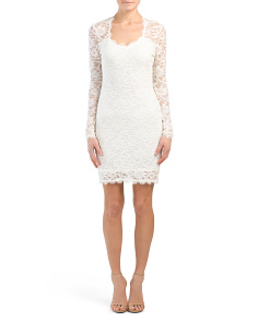 Juniors Made In USA Long Sleeve Lace Dress