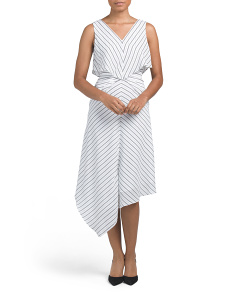 Rhoni Striped Gathered Waist Dress