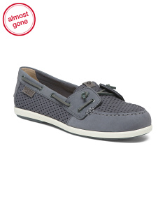 Slip Resistant Leather Boat Shoes