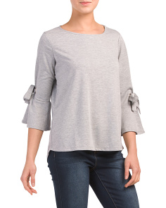 Grommet Sleeve French Terry Top