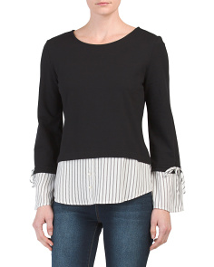 Long Sleeve Knit Twofer