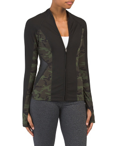 Camo Printed Yoga Zip Jacket