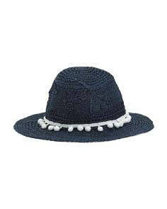 Made In Italy Crochet Paper Hat