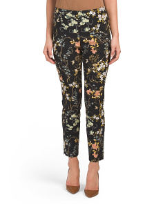 Pull On Slim Floral Pants