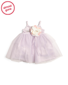 Infant Girls Satin & Tulle Ballerina Dress