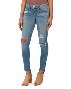 Made In USA Destructed Skinny Jeans
