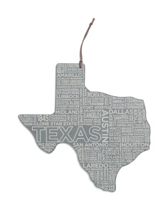 Texas Etched Cheese Board